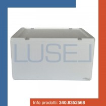 PZ 1 scatola portafrutta 40 x 34 x 21 rettangolare per l'asporto di alimenti verdura