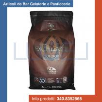KG 5 Cioccolato fondente Excellence cacao Barry pur noir in pastiglie