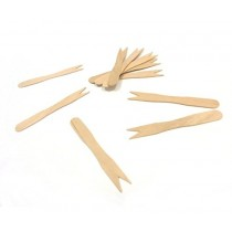 Pz 1000 forchettine in legno per aperitivo wood fork for happy hour