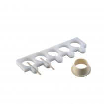 PZ 1 Kit stampo in plastica per gelato rotondo su stecco (5 scomparti)