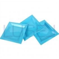 PZ 100 Piatto azzurro quadrato cm 20.5x 20.5 in plastica alimentare aperitivo happy hour flat plastic