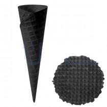 PZ 250 Cono nero piccolo per gelato in cialda arrotolata + PZ 1000 Cialde nere rotonde