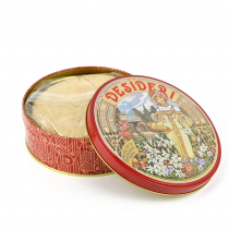 GR 270 Cialde di Montecatini alla mandorla -almond waffle cialda croccate confezione in latta