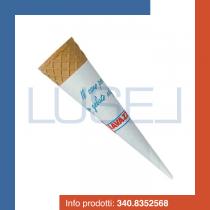 Pz 180 Cono wafer medio + pirottino in carta  in cialda wafer  piccolo cono per gelato cialda per gelato