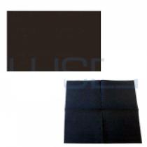 PZ 100 Tovagliette nere in carta da cm 33 x 45 + pz 120 Tovaglioli black da cm 25x25