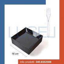 kit-promozionale-pz-25-piatto-fondo-forma-quadrata-nero-black-pz-50-forchette-trasparenti