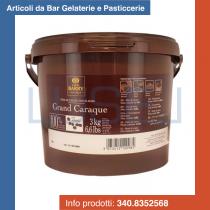 KG 3 Massa di cacao Barry Grand Caraque pastiglie di cacao puro 100%