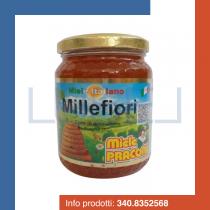GR 500 Miele millefiori praconi 100 % italiano in vaso vetro natural honey sweetener dolcificante