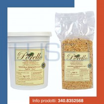 "KG 1 pasta ""chiara"" nocciola piemonte i.g.p. + kg 1 granella di nocciola piemonte i.g.p. per gelateria e pasticceria"