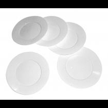 PZ 50 Piattino bianco cm 17 in plastica rigida per dessert e dolci