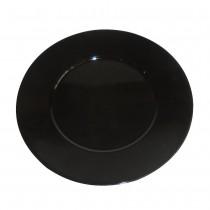 PZ 100 Piattino piano nero tondo black noir formato piccolo per apericena aperitivo e happy hour