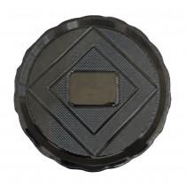 PZ 25 Piatto rotondo nero black da cm 22 in plastica alimentare