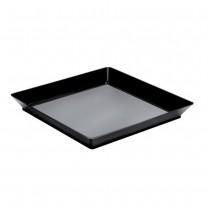 PZ 25 Piatto fondo forma quadrata nero black noir per aperitivo apericena e happy hour