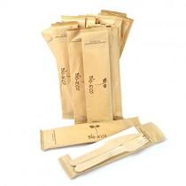 pz 50 bis posate in legno forchetta coltello e tovagliolo imbustate in busta 100% carta ideali per asporto