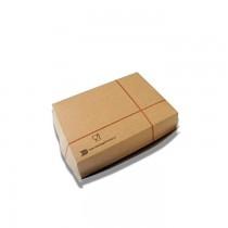PZ 100 Box per panino grande 15 x cm 10 alto cm 7  in carta alimentare per asporto avana
