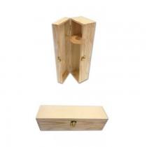 PZ 1 Cassetta porta bottiglie in legno (1 bottiglia) in legno di pino naturale