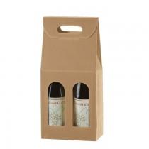 PZ 20 Scatola porta bottiglie (2 bottiglie) in cartone ondulato