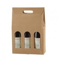 PZ 20 Box porta bottiglie (3 bottiglie) in cartone ondulato