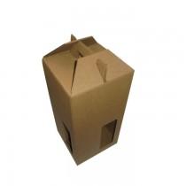 PZ 10 Contenitore porta bottiglia (4 bottiglie da 0,75 /1 litro) in cartone ondulato con manico