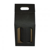 PZ 20 Scatola nera porta bottiglie (2 bottiglie) in cartone ondulato