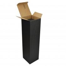 PZ 20 Scatola nera porta bottiglia (1 bottiglia) in cartone ondulato