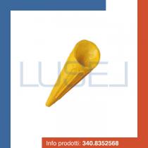 PZ 500 Cialde per gelati a forma di punta di cono gialle per coppe gelato e dolci