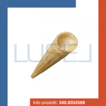 PZ 500 Cialde per gelati a forma di punta di cono neutre per coppe gelato e dolci