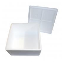 PZ 1 Scatola termica bianca quadrata porta torte e dolci in polistirolo