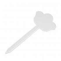 PZ 10 Segnagusto a fiore in plastica bianca alto cm 21,5