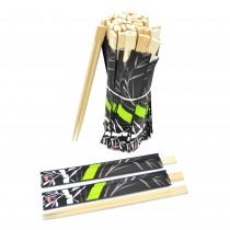 pz 100 bacchette in bambu 21 cm colore legno chiaro, ideali per sushi, sashimi, salmone, supplì di riso. resistente e di ottima qualità.