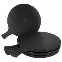 PZ 6 Tagliere nero black cm 34 x 26 con manico vassoio per taglieri di salumi formaggi e polenta in plastica rigida