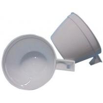 PZ 100 Tazzina con manico bianca cl 165 per cappuccino e cioccolata calda in plastica