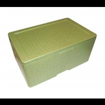 PZ 1 Contenitore termico verde rettangolare resistente per asporto alimenti in polistirolo