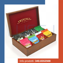PZ 80 Bustine assortite di The Twinings con Porta bustine da 8 scomparti