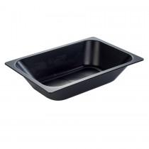 PZ 1 Vaschetta in plastica rigida nera da lt 5,8 per vetrina gelato