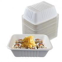 pz 30 vaschette 100% canna da zucchero da cc500 ideali per l'asporto di alimenti come fritture, sushi, riso e patate