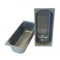 PZ 20 Vaschetta in plastica grigia t. 5000 per vetrina gelato