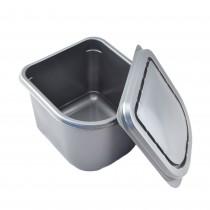 Pz 25 mezza vaschetta lt 2,5 per gelato grigia misure 130 x 150 x (h) 120 mm + coperchio vaschetta per asporto gelati ed alimenti