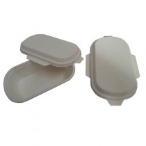 PZ 50 Vaschette termiche da 350 ml con coperchio in cartone biologiche per alimenti in polpa di cellulosa