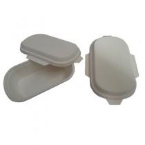 PZ 50 Vaschette termiche da 500 ml con coperchio in cartone biologiche per alimenti in polpa di cellulosa