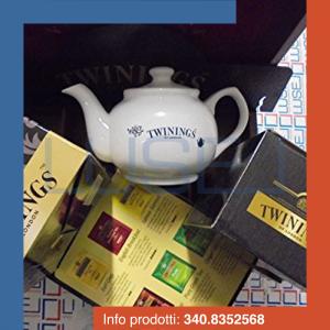 PZ 250 Assortimento di the e tisane Twinings con kit da degustazione (teiera + 2 tazzine)