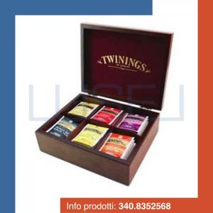 PZ 60 The, tisane, camomille e infusi Twinings con Box portabustine  da 6 scomparti